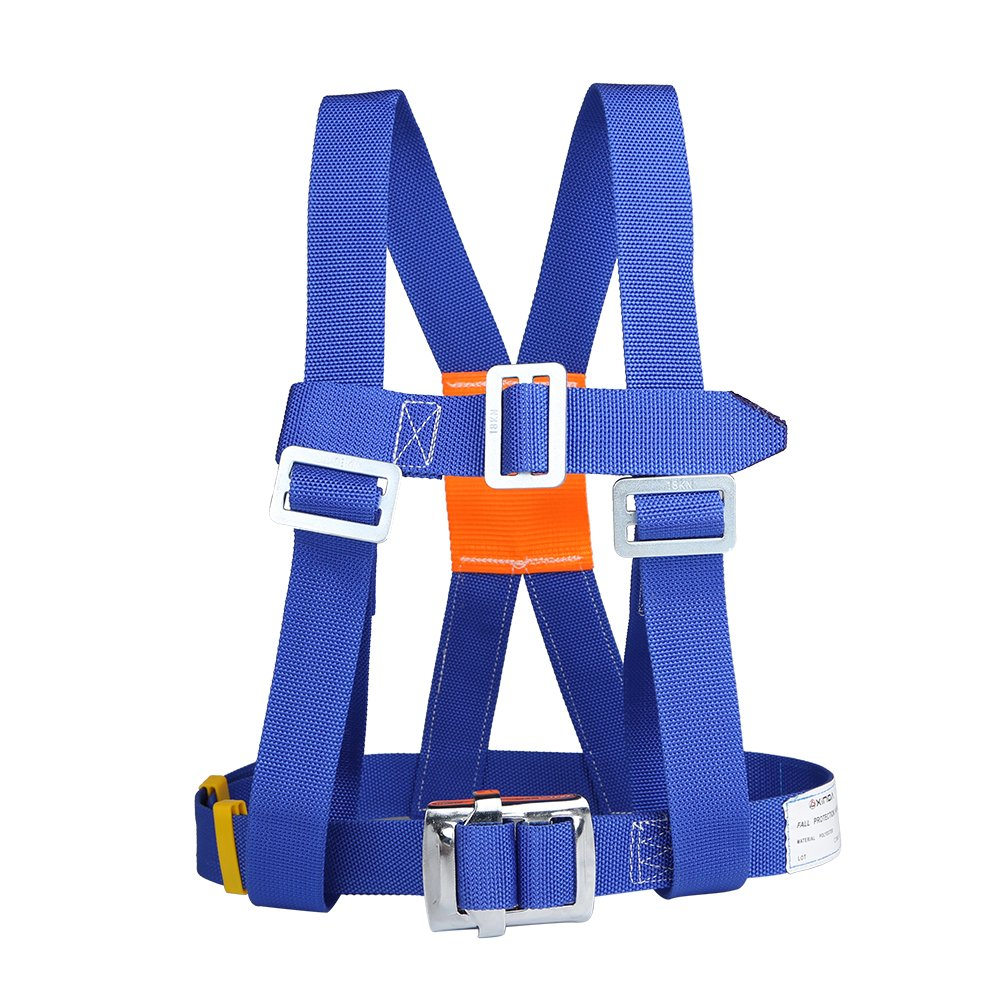 XINDA Outdoor Aerial Protection Belt Anti Falling Safety Hook High Altitude Operation Wear-Resistant Climbing Polesafety Belt (蓝色)