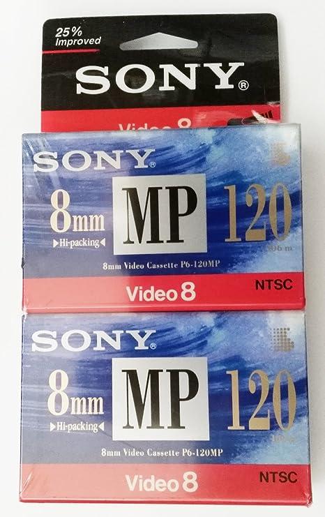 Amazon com: Sony 8mm MP video cassette - 120 min (2 pack): Home