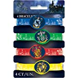Harry Potter Silicone Wristband Party Bag Fillers, Pack of 4