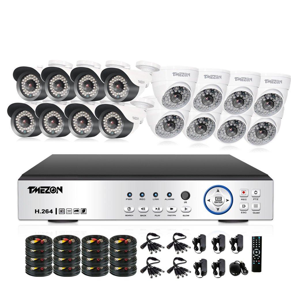 TMEZON 監視カメラ 16台 200万高画素 赤外線LED48/36個 3.6mmレンズ+ AHD 1080Pレコーダー HDDなし(ホワイト) B073R88X33 48個LED 3.6MM固定レンズカメラ カメラ16台+16ch 1080Pレコーダー(HDDなし) カメラ16台+16ch 1080Pレコーダー(HDDなし) 48個LED 3.6MM固定レンズカメラ