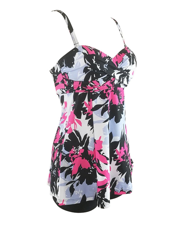 Zando Womens Slimming Tummy Control Swimdress Swimwear Long Torso Tankini Swimsuit Retro Skirt Swimming Suit for Women MNFUZES2113G0000