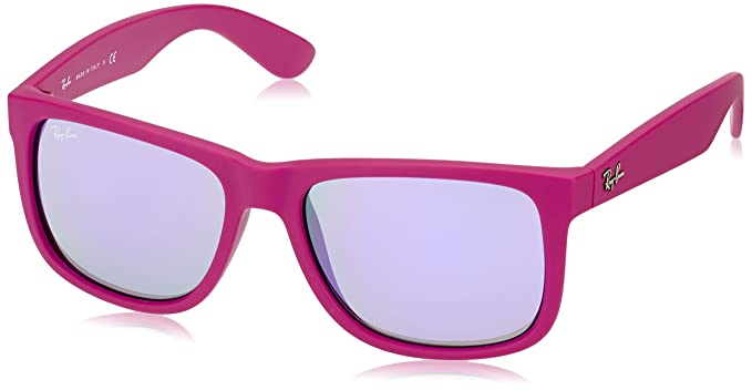 a0e81a254fb Image Unavailable. Image not available for. Color  Ray-Ban 4165 60894V Pink  4165 Justin Wayfarer Sunglasses ...