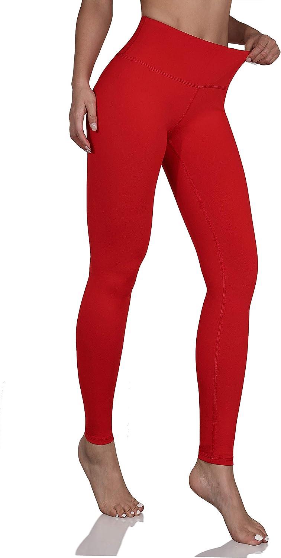 ODODOS Women's High Waist Yoga Leggings, Tummy Control Workout Running Compression Yoga Leggings with Inner Pocket: Clothing