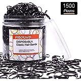 Elastici capelli elastici Confezione da 1500 (nero)