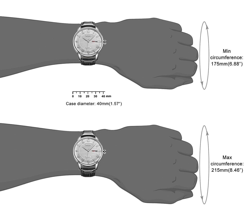 Watch Arm Diagram Wiring E Tec 1 6l L91 Amazon Com Songdu Mens Dress Day Date Analog With Roman Rh