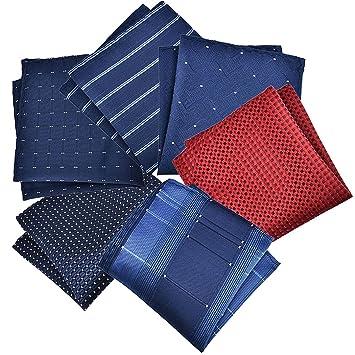 Fascigirl PañUelo de Bolsillo para Hombres, 6 Piezas Traje de PañUelo de Bolsillo Traje de Moda Creativo Hanky Cuadrado(Color Aleatorio)