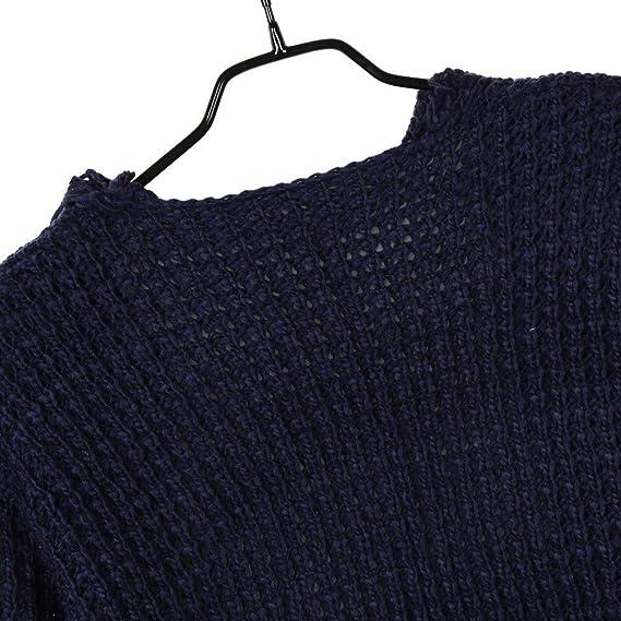... Manga Larga De Gran tamaño Suelta Buena Elasticidad Punto Suéter Cardigan Borlas Bolsillo Outwear Abrigo(Un tamaño, Azul): Amazon.es: Ropa y accesorios