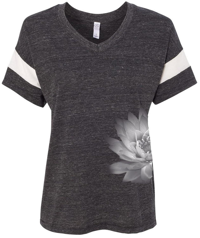 Yoga Clothing For You Ladies Lotus Flower Eco Blended V-neck