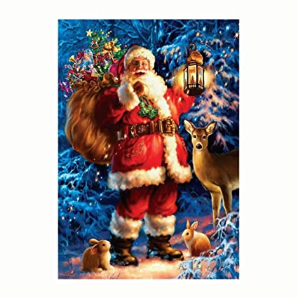 Image Unavailable. Image not available for. Color  Wakeu Christmas Santa 5D Diamond  Painting Embroidery Cross Stitch DIY ... a8748f34e