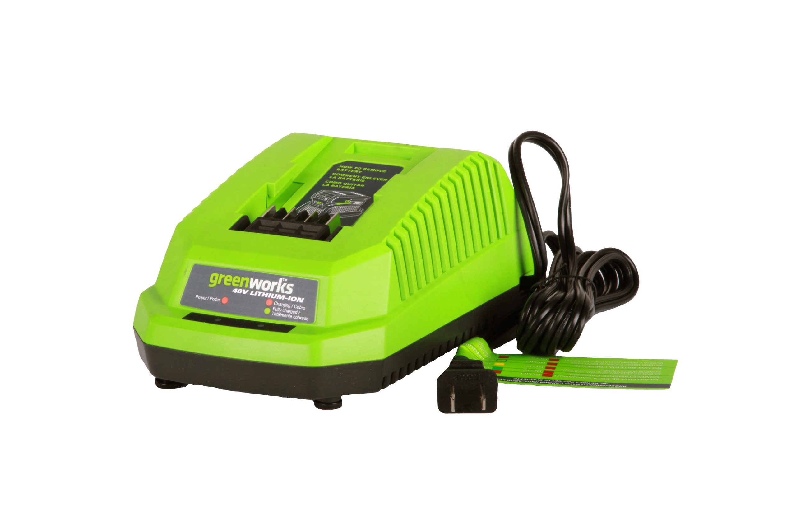 Greenworks 40V Lithium Ion Battery Charger 29482 by GreenWorks