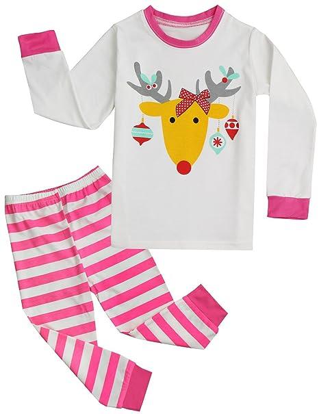 4964fa99a Niño y Niña de Navidad Papá Noel Blusa + Pantalones Pijamas de Navidad Set  Conjunto de