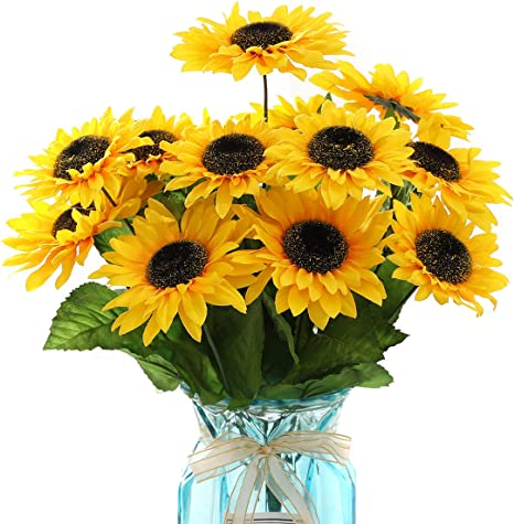Artificial Sunflower Silk Home Flower Flowers Decor Wedding Bouquet Sunflowers