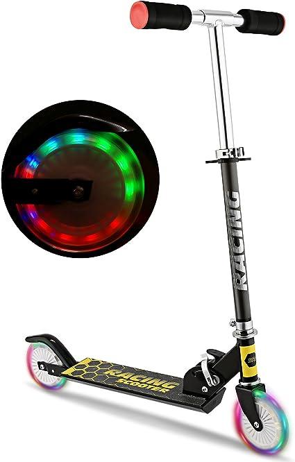 Amazon.com: WeSkate Scooter para niños con ruedas con luz ...