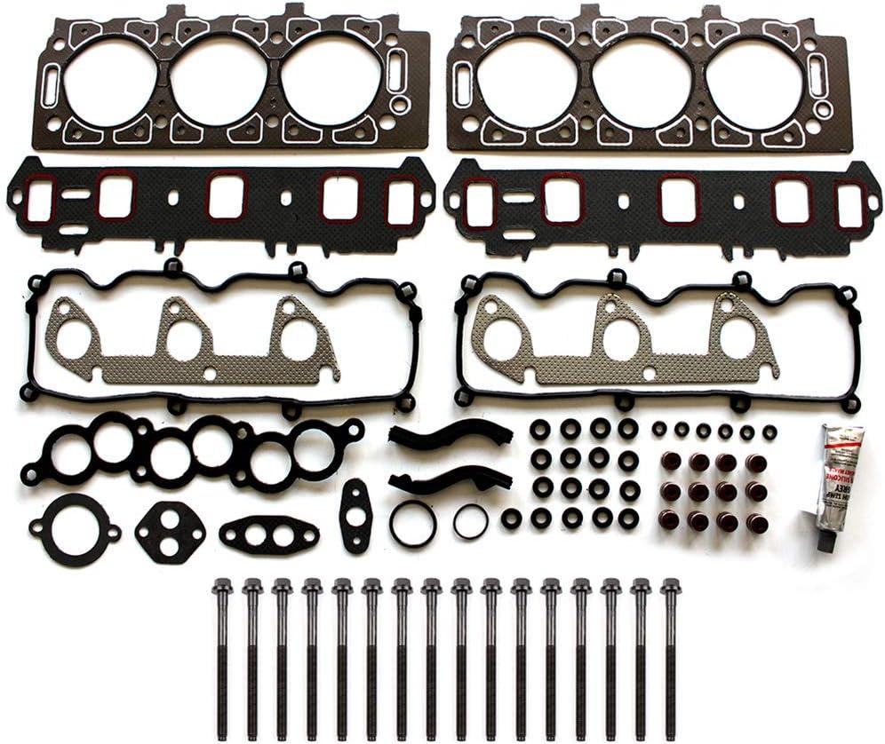 FINDAUTO Automotive Engine Head Gasket Set Bolts fits Ford Ranger 1998-2001