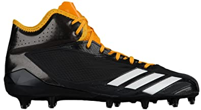 new concept ba363 0adaf adidas Adizero 5Star 6.0 Mid Cleat Mens Football 8 Black-White-Gold Solid