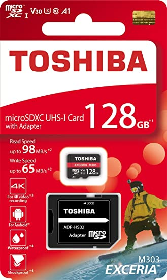 Amazon.com: Toshiba 128 GB 128 G EXCERIA M303 con adaptador ...