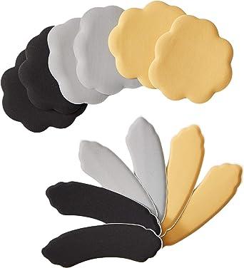 Foot Petals Tip Toes Ball of Foot Triple Pack-W Black Print