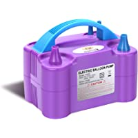 NuLink Electric Portable Dual Nozzle Balloon Blower Pump Inflation for Decoration, Party, Sport [110V~120V, 600W, Purple…