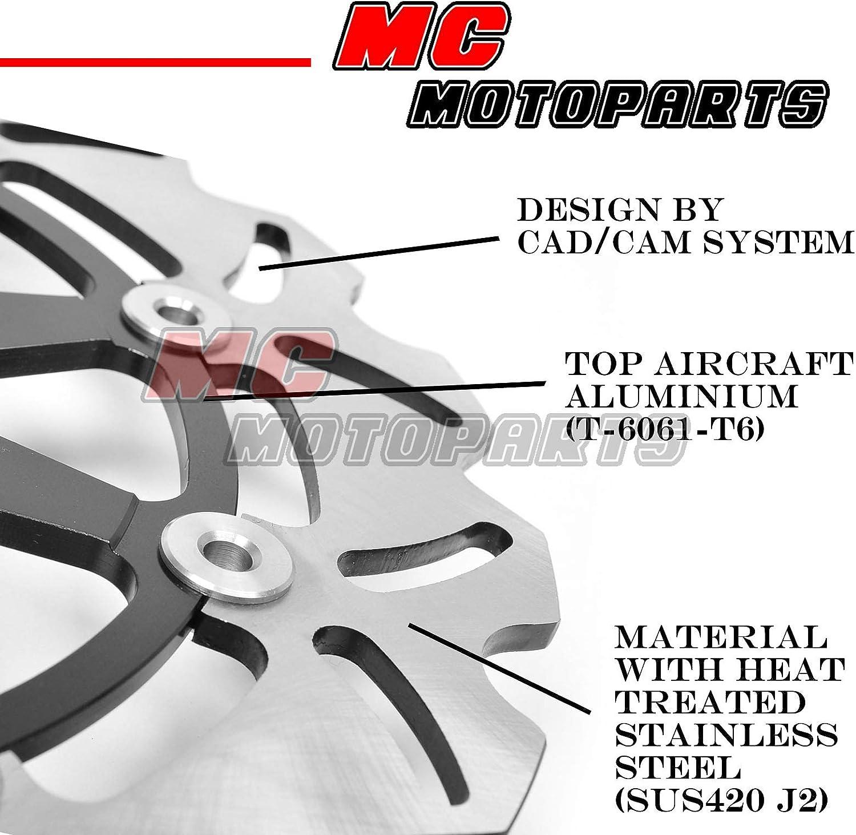 Disque de frein avant MC Motoparts Pour Kawasaki ZZR 1400 2006-2007 06 07 2 pi/èces