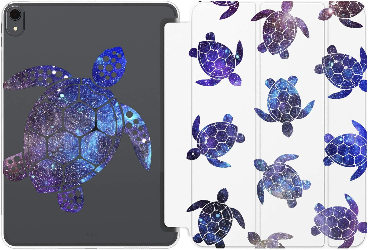 Cavka Case for Apple iPad 10.2 8th Gen 12.9 Pro 11 10.5 9.7 Air 3 Mini 5 4 3 2 1 2019/18 Turtle Cute Girl Space Galaxy Fish Print Stars Smart Cover Animals Protective Cosmic Pattern Lightweight