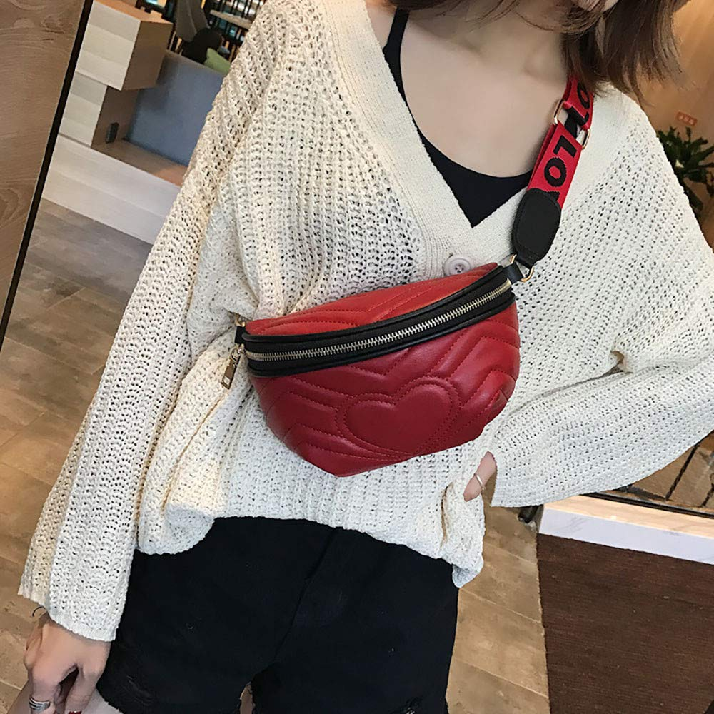 Handbags for Women Shoulder Bags Tote Satchel , Love Crossbody Shoulder Bag Pocket Bag Fashion Wild Chest Bag