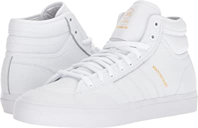 b64c7ae052f adidas Skateboarding Men s Matchcourt High RX2 Footwear White Footwear  White Gold Metallic 6 D