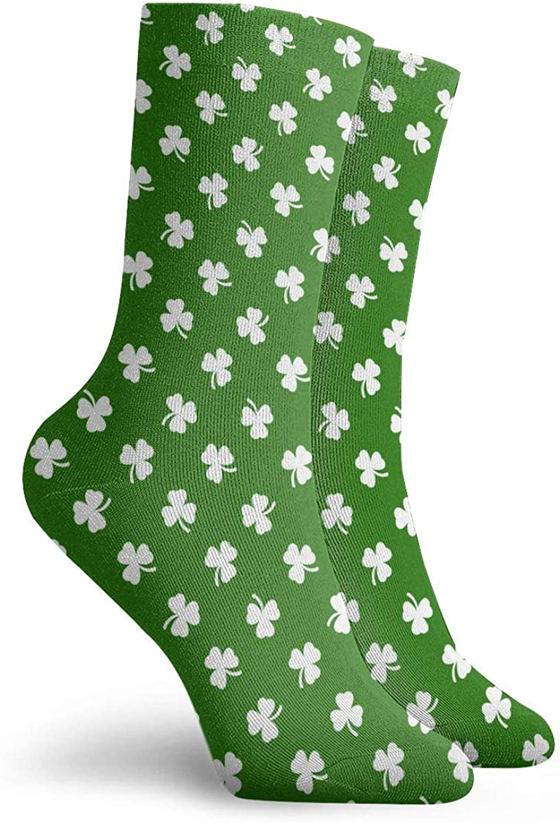 Unisex My First St Patricks Day Clover Ornament Athletic Quarter Ankle Print Breathable Hiking Running Socks