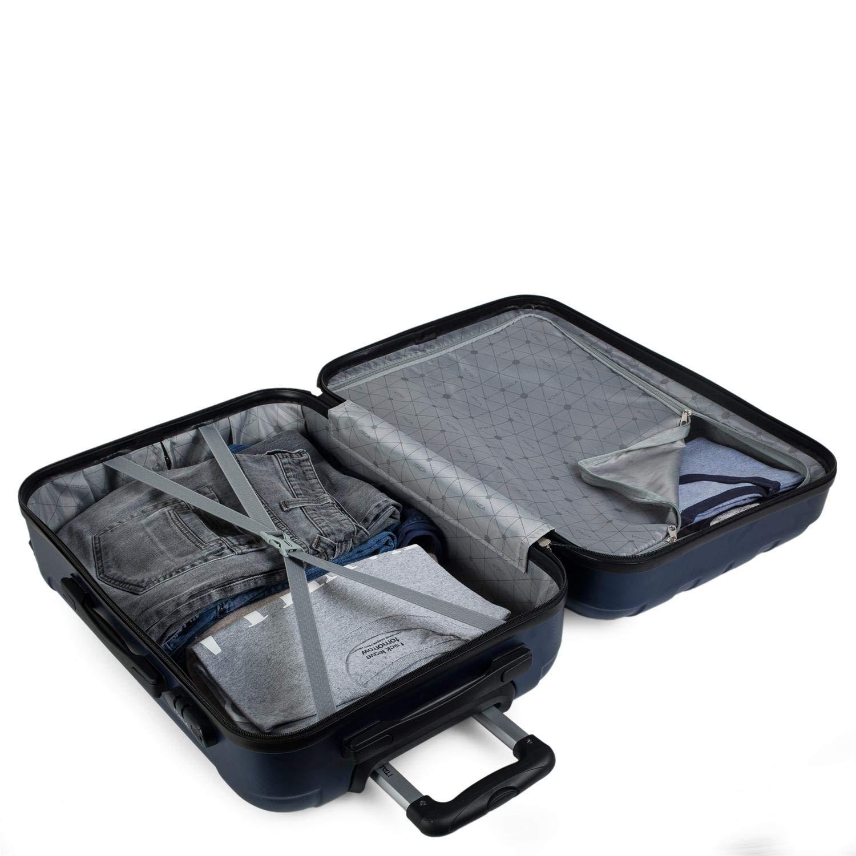 2 maniglie e lucchetto ITACA Travel Case Rigid 4 ruote trolley 65 cm medio ABS Resistente e leggero Maniglia Studenti e professionisti 771160 Color Giallo