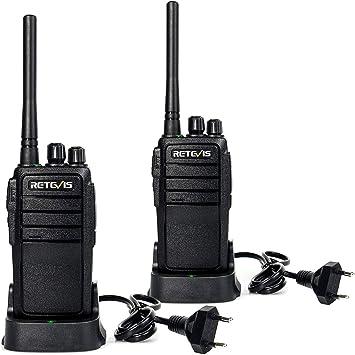 Retevis RT21 Walkie Talkie Radio de Jamón Profesional de Largo Alcance Radio de Mano Recargable de 16 Canales Radio de Dos vías para Adultos Seguridad ...