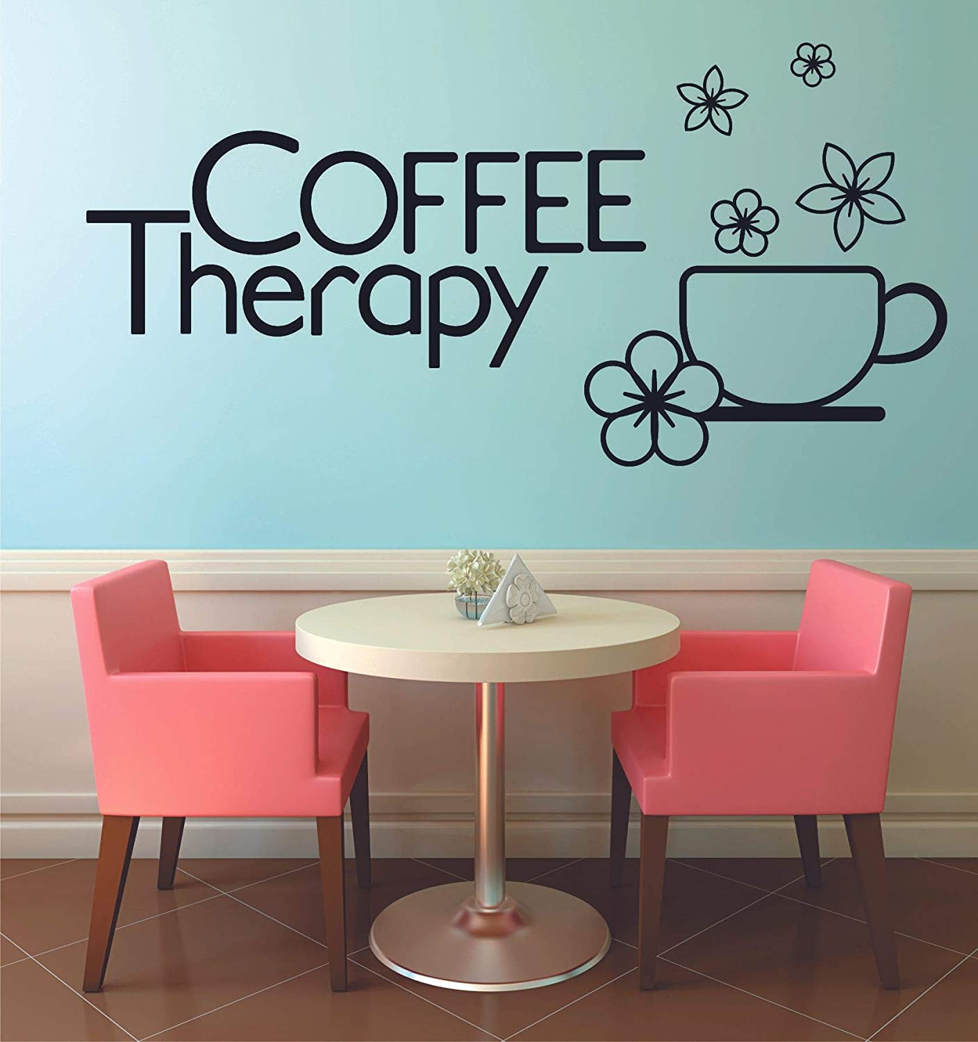 I Love You More Than Coffee But Vinyl Decal Wall Sticker Words Letter Home Decor