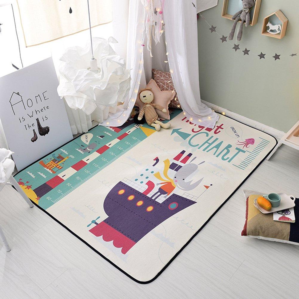 Cartoon Ship Rugs Children - Anti-slip Baby Crawling Rugs Living Room Bedroom Area Rugs 59 X 77 Inch