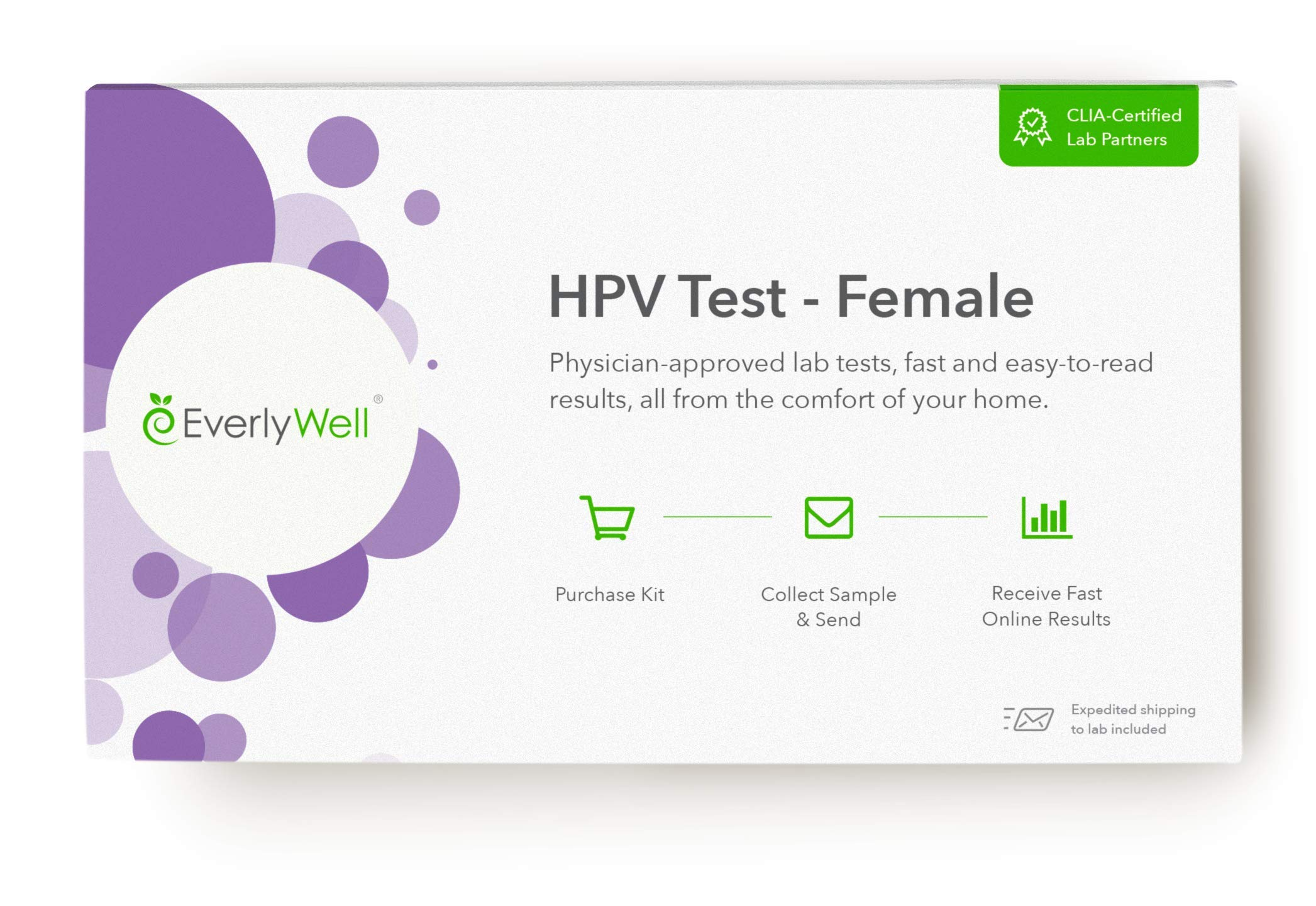 Everlywell - Female at-Home HPV Test - Physician Approved Lab Tests from The Comfort of Your Home (Not Available in MD, NY, NJ, RI) by Everly Well