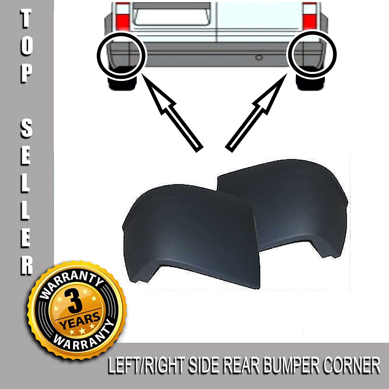 Pair L/R Side Rear Bumper Corner End Caps With Clips Carjoy