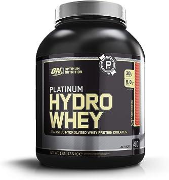 Optimum Nutrition Platinum Hydro Whey, Proteinas Whey en Polvo, Proteina de Suero para Masa Muscular y Musculacion, Fuente de BCAA, Bajo en Calorías, ...