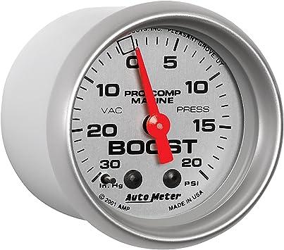 Auto Meter AutoMeter 200774-40 Gauge Mechanical 2 1//16 Vac//Boost 30Inhg-20Psi Marine Carbon Fiber