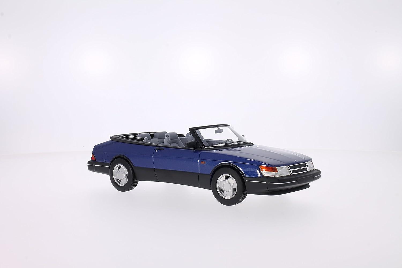 Bos Models Saab 900 S Cabriolet, metallic-blau 1987 Maßstab 1 18 - Resine - Fertigmodell