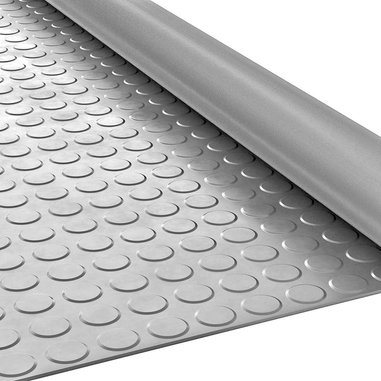 Flachnoppen Gummimatte Schutzmatte Noppenmatte Bodenmatte mit Noppen Gummil/äufer 100cm Breit 3mm stark Schwarz 300 x 100cm
