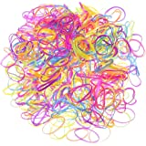 eBoot Colorful Elastic Bands Hair Rubber Bands Hair Ties, 2200 Pieces