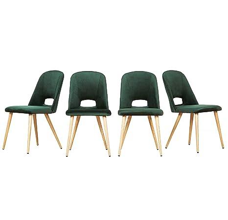 MCombo - 4 sedie Imbottite per Sala da Pranzo, Cucina ...
