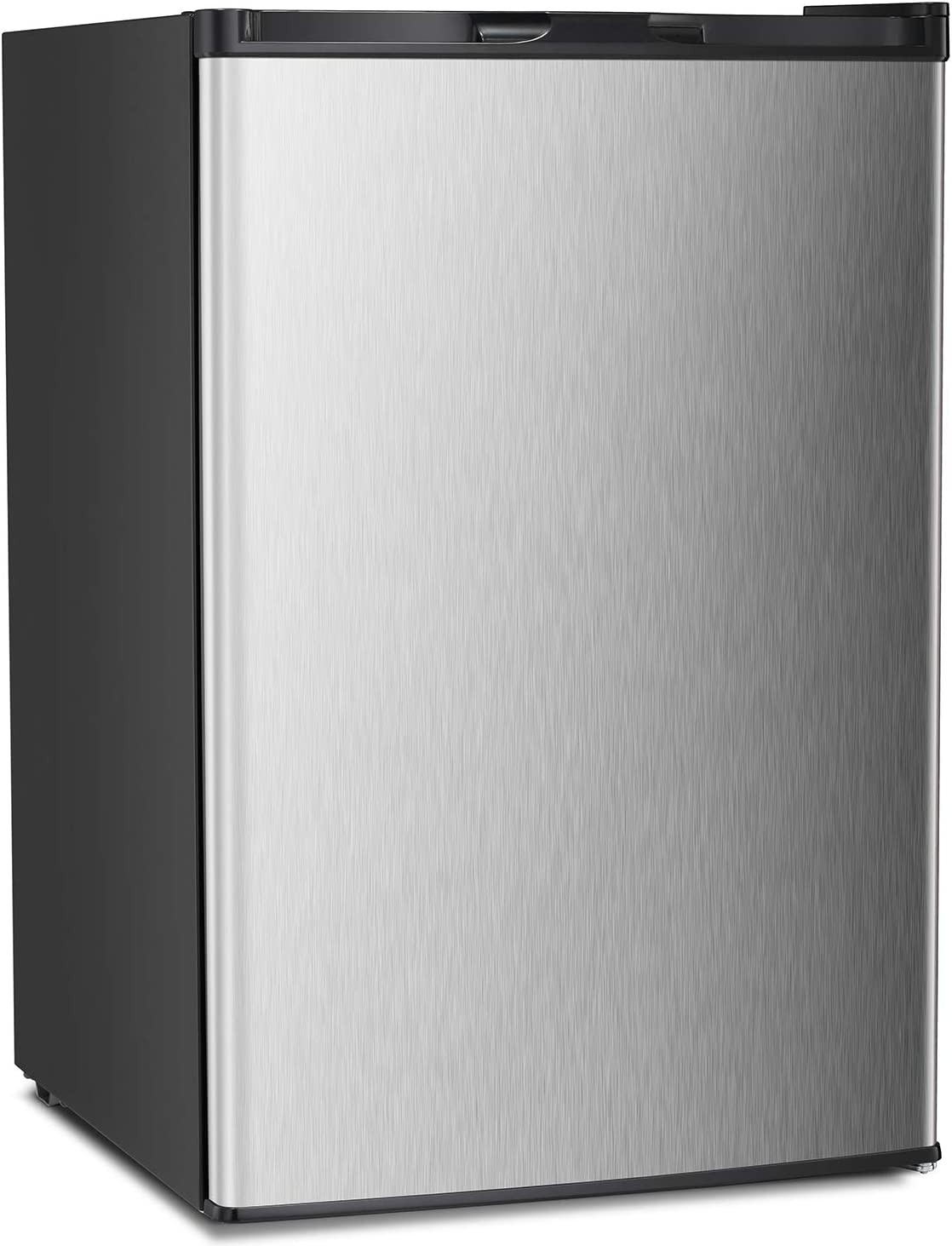 Antarctic Star Compact Chest Upright Freezer Single Door Reversible Stainless Steel Door, Compact Adjustable Removable Shelves for Home Office, 3.0 cu.Silver