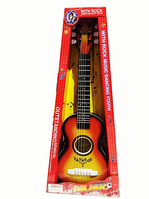 KINGTOP Guitarra de Juguete, Color Natural, Guitarra para niños Guitarra Niños 21 Pulgada 6