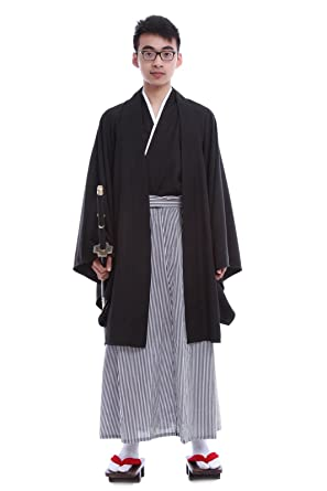 Amazon.com: Lemail wig Japanese Traditional Samurai Mens Black ...