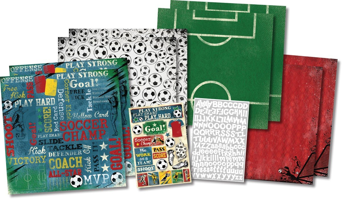 Karen Foster Soccer Champ Scrapbook Page Kit 12