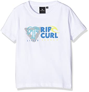 03c35d521580 RIP CURL Let's Surf SS Tee Grom T-Shirt Unisex white Blanco (Optical White