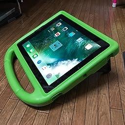 Amazon Co Jp Ipad 2 3 4 9 7 ケース 子供用 耐衝撃 保護 ハンドル 持ち手 スタンド カバー 自立式 画面プロテクター付き Apple 9 7インチ Ipad第二三四世代 グリーン パソコン 周辺機器