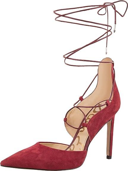 b83b38a64de Sam Edelman Women s Helaine Tango Red Kid Suede Leather D Orsay 10.5 ...