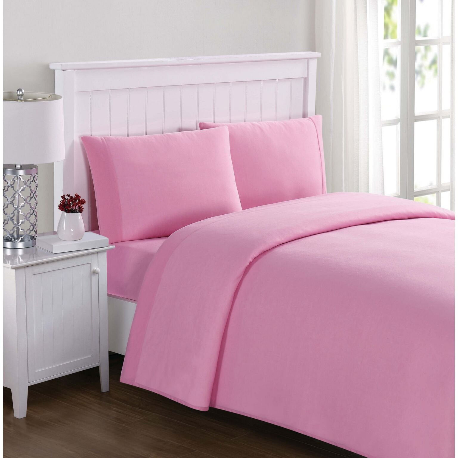 Truly Soft Solid Jersey, Twin XL Sheet Set, Pink