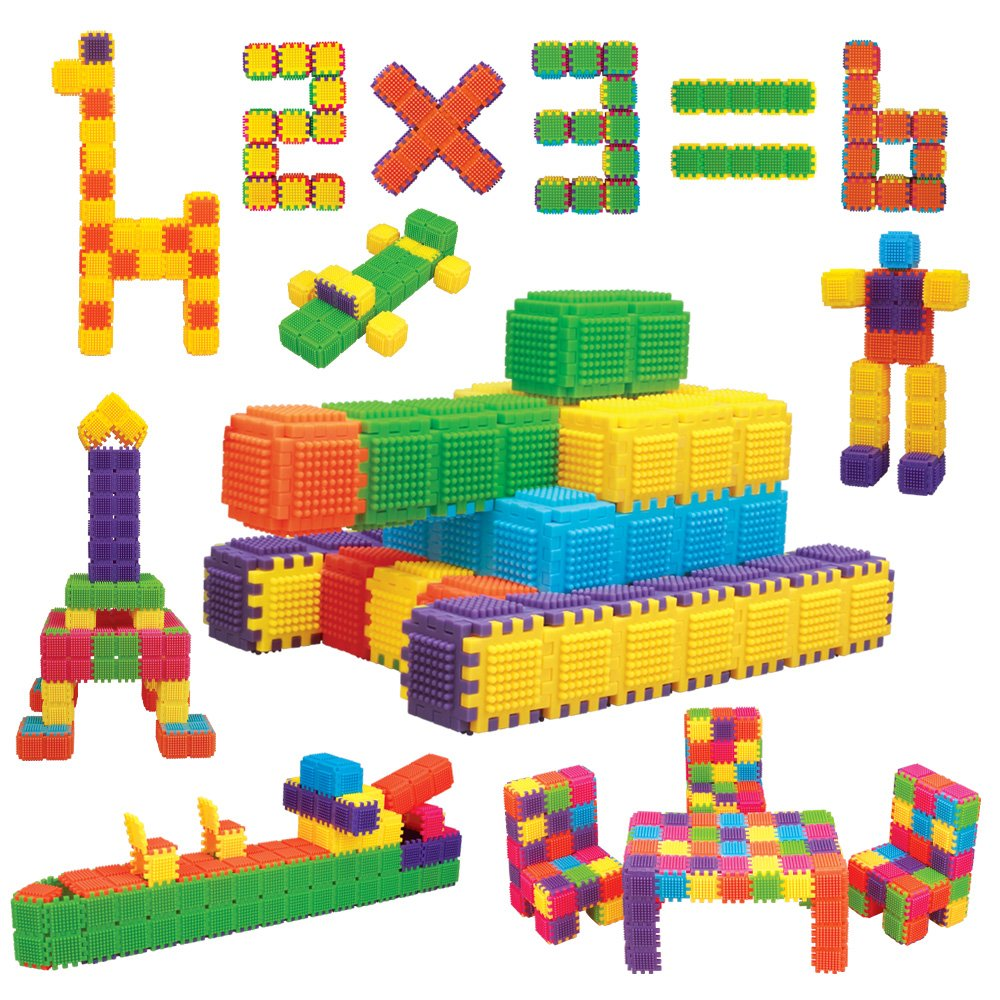 Educational Buliding Blocks for Child Beginnner - 150 Interlocking Pieces Make Cubes, Shape and Funny Objects. Review