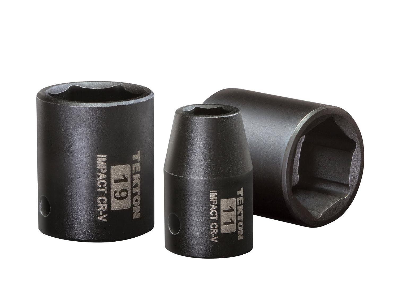 Cr-V 4795 TEKTON 3//8-Inch Drive Shallow Impact Socket Set 8-Sockets 19 mm 10 mm 6-Point Metric