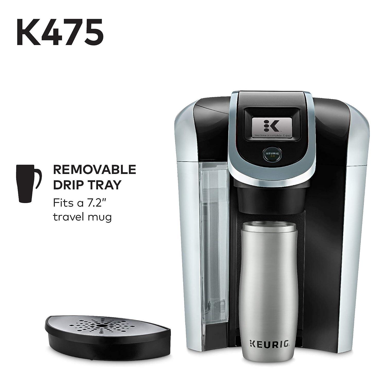 Keurig K475 Cafetera de cápsula de una porción K (Certificada ...